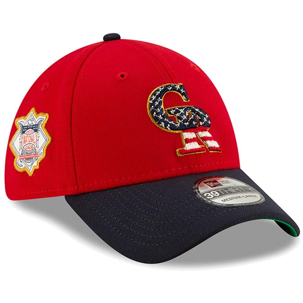 Colorado Rockies New Era Stars & Stripes 4th of July 39THIRTY Flex Hat - Red/Navy