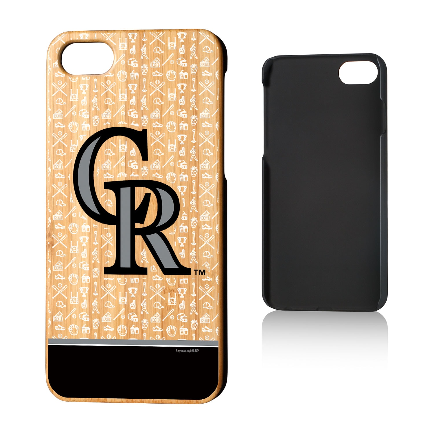 Colorado Rockies iPhone 7/8 Stripe Pattern Bamboo Case