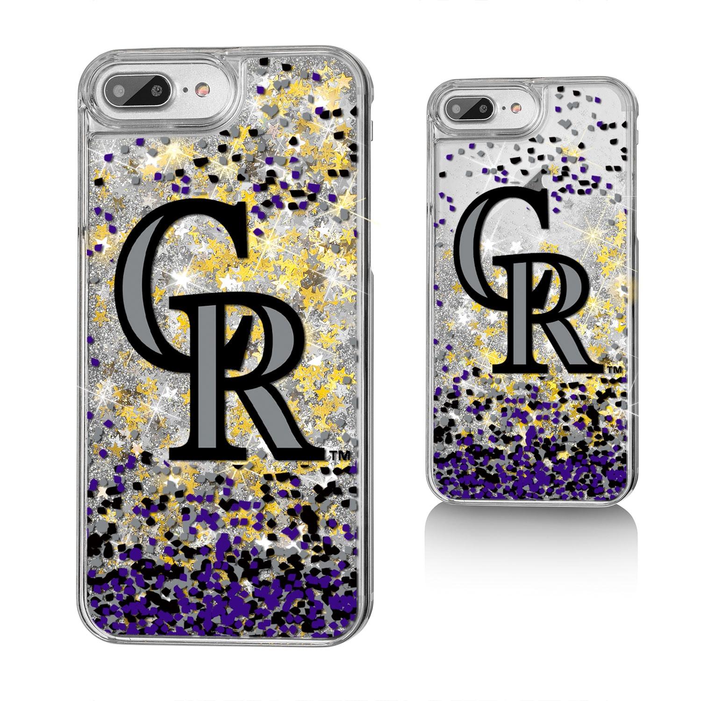Colorado Rockies iPhone 6 Plus/6s Plus/7 Plus/8 Plus Sparkle Gold Glitter Case