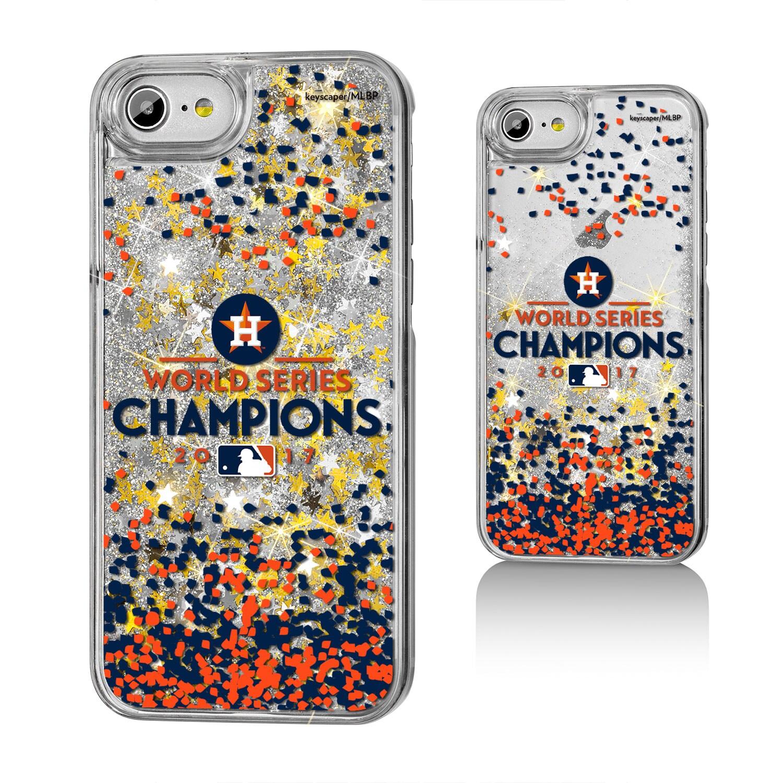 Houston Astros 2017 World Series Champions iPhone 6/6s/7/8 Gold Glitter Case