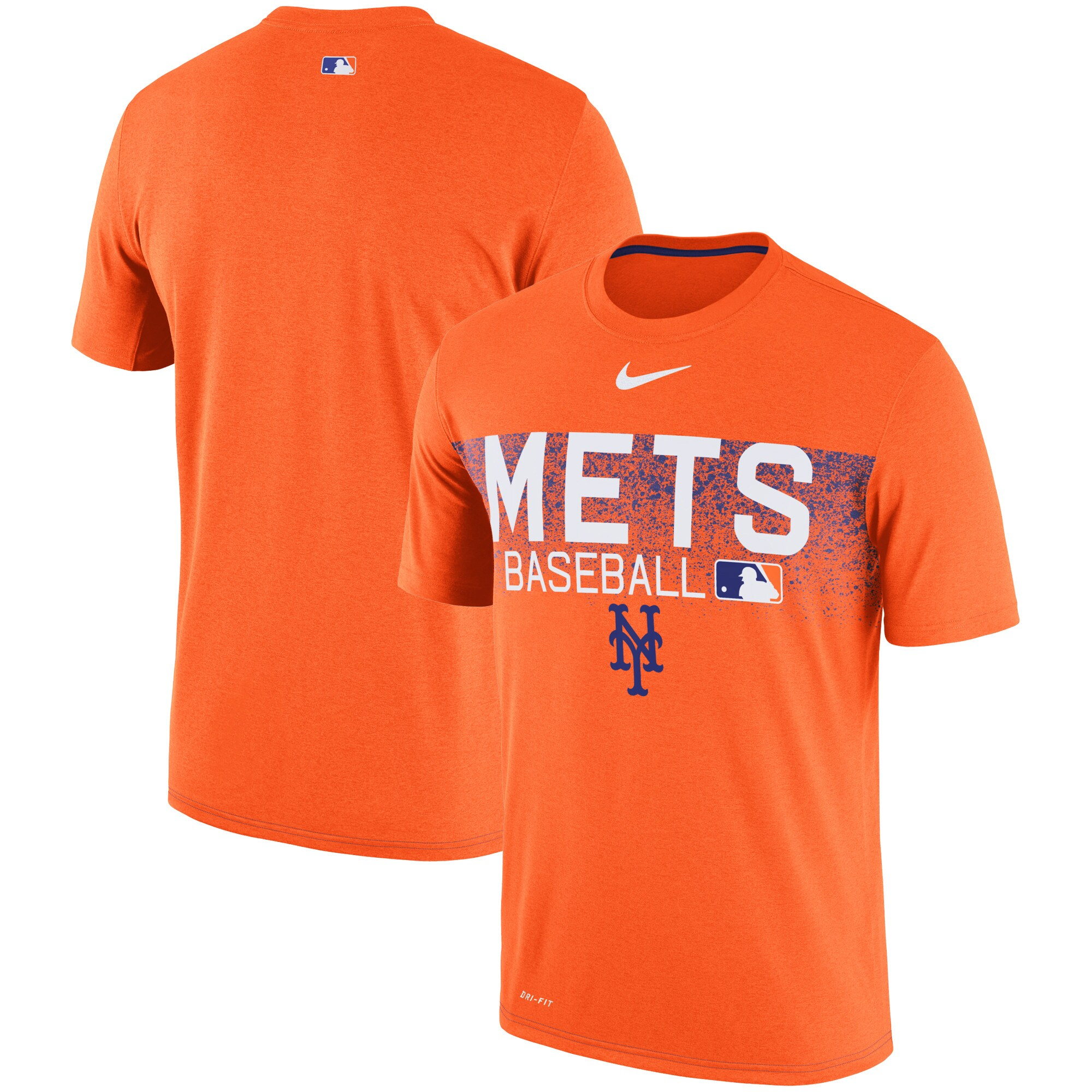 New York Mets Nike Authentic Collection Legend Team Issued Performance T-Shirt - Orange