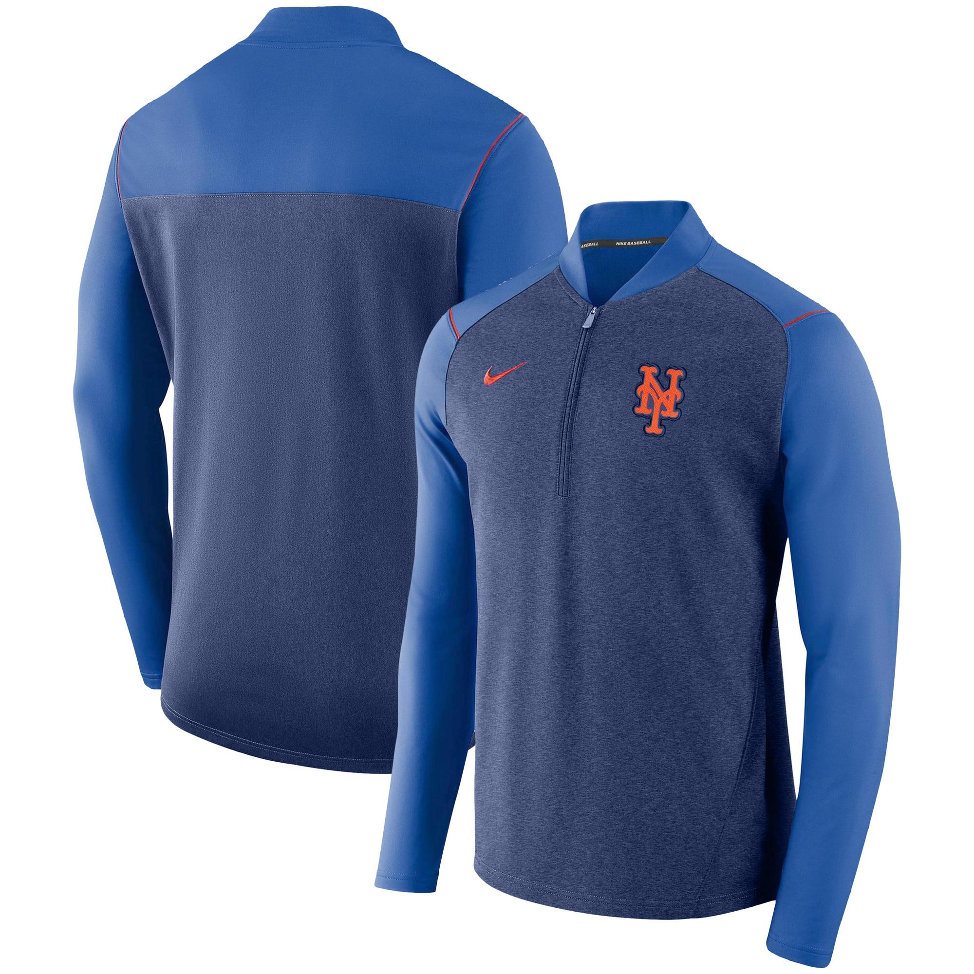 New York Mets Nike Elite Performance Half-Zip Pullover Jacket - Royal