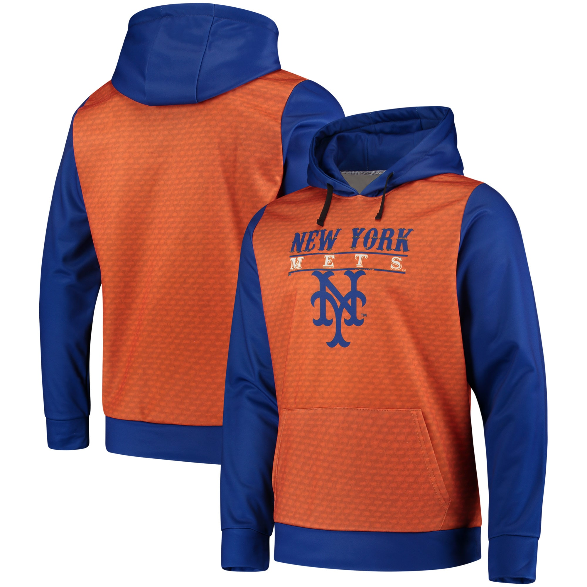 New York Mets Cooperstown Collection Pullover Hoodie - Orange/Royal