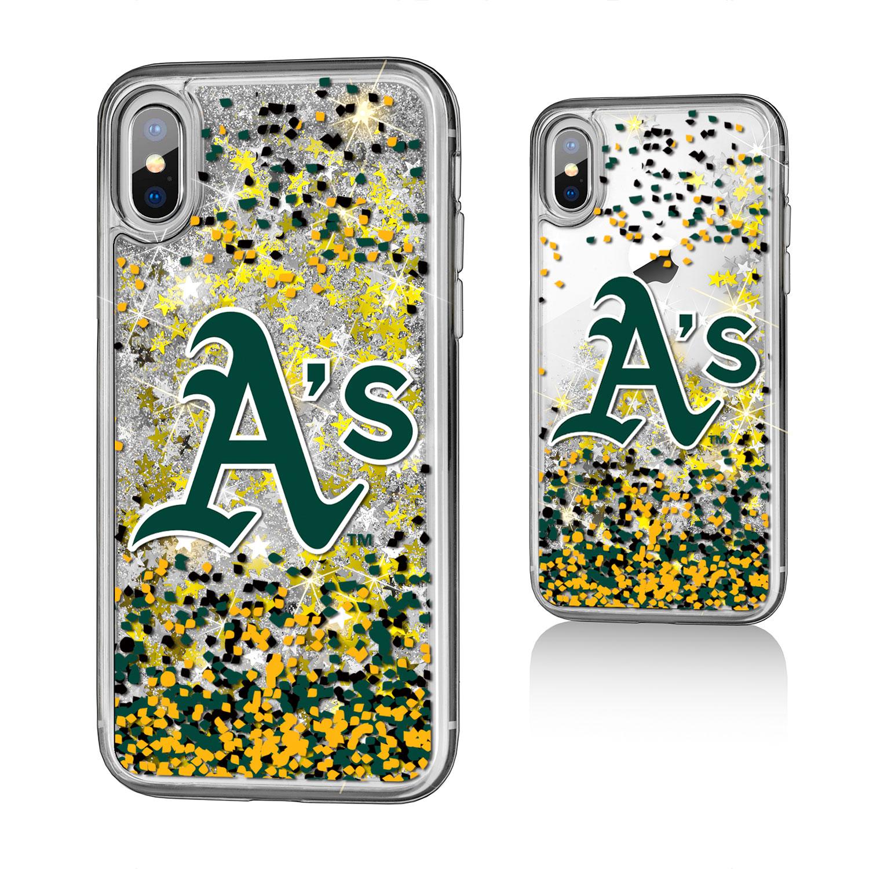Oakland Athletics iPhone X/Xs Logo Glitter Case
