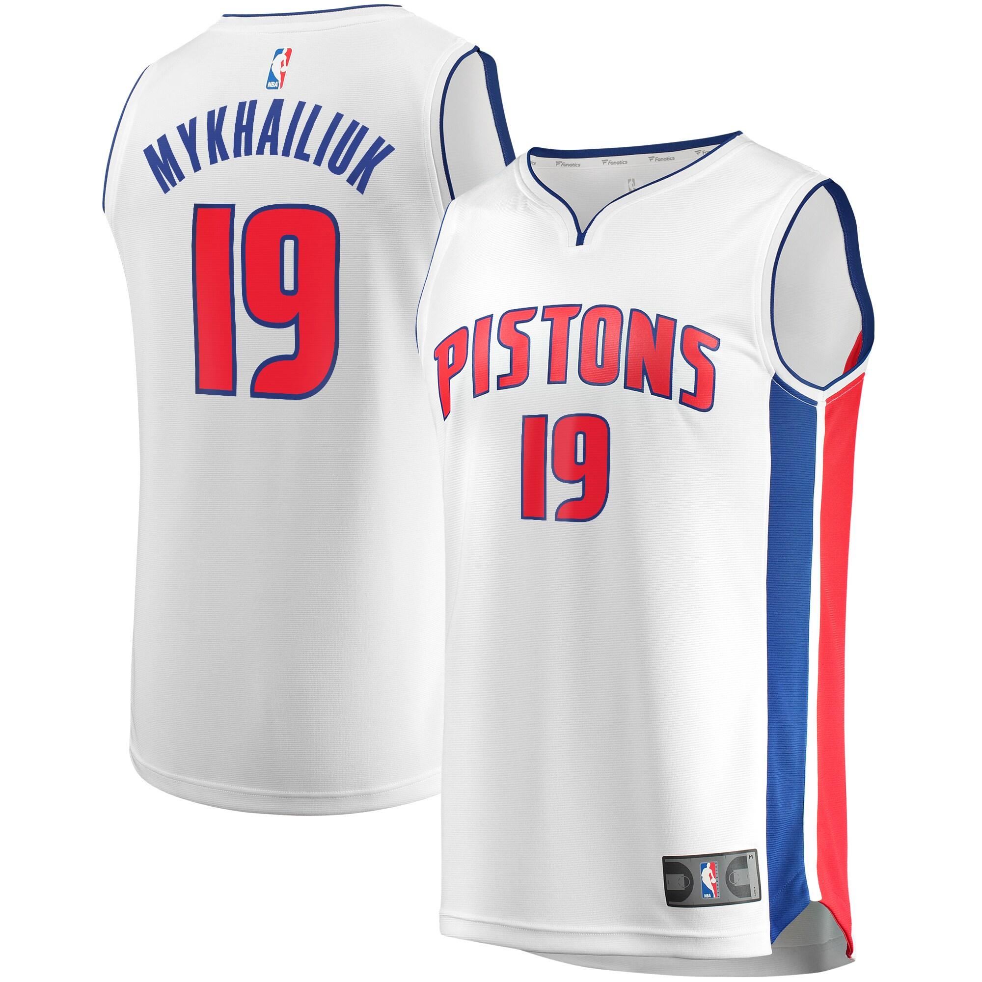 Sviatoslav Mykhailiuk Detroit Pistons Fanatics Branded Youth Fast Break Replica Player Jersey - Association Edition - White