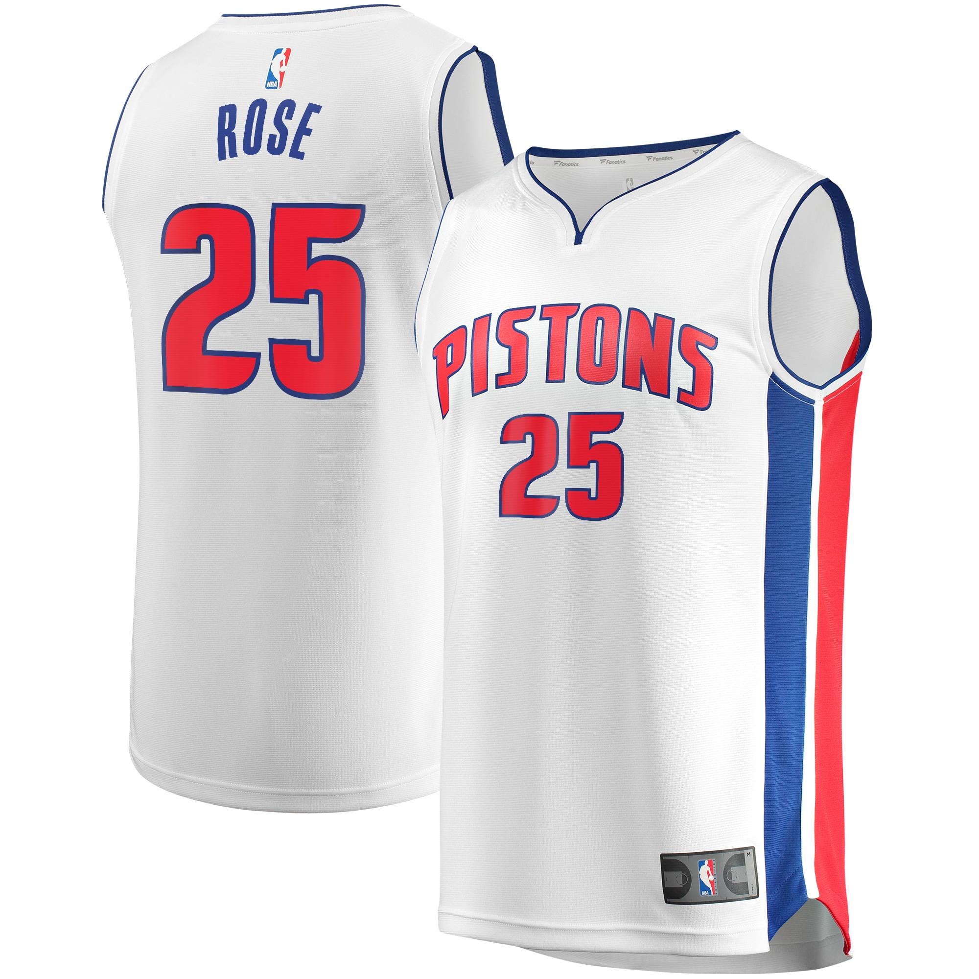 Derrick Rose Detroit Pistons Fanatics Branded Youth Fast Break Replica Player Jersey - Association Edition - White