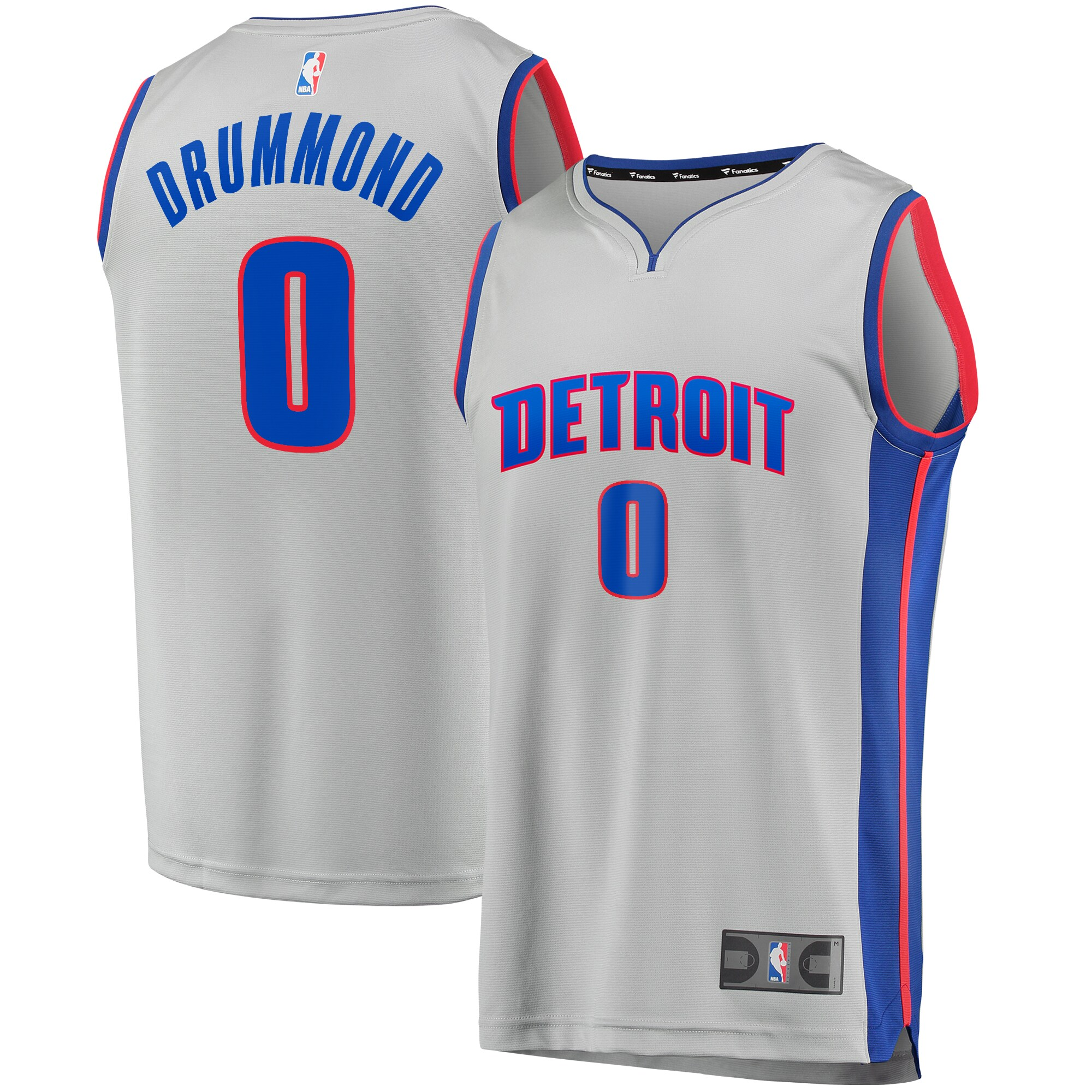 Andre Drummond Detroit Pistons Fanatics Branded Youth Fast Break Replica Player Jersey - Statement Edition - Gray