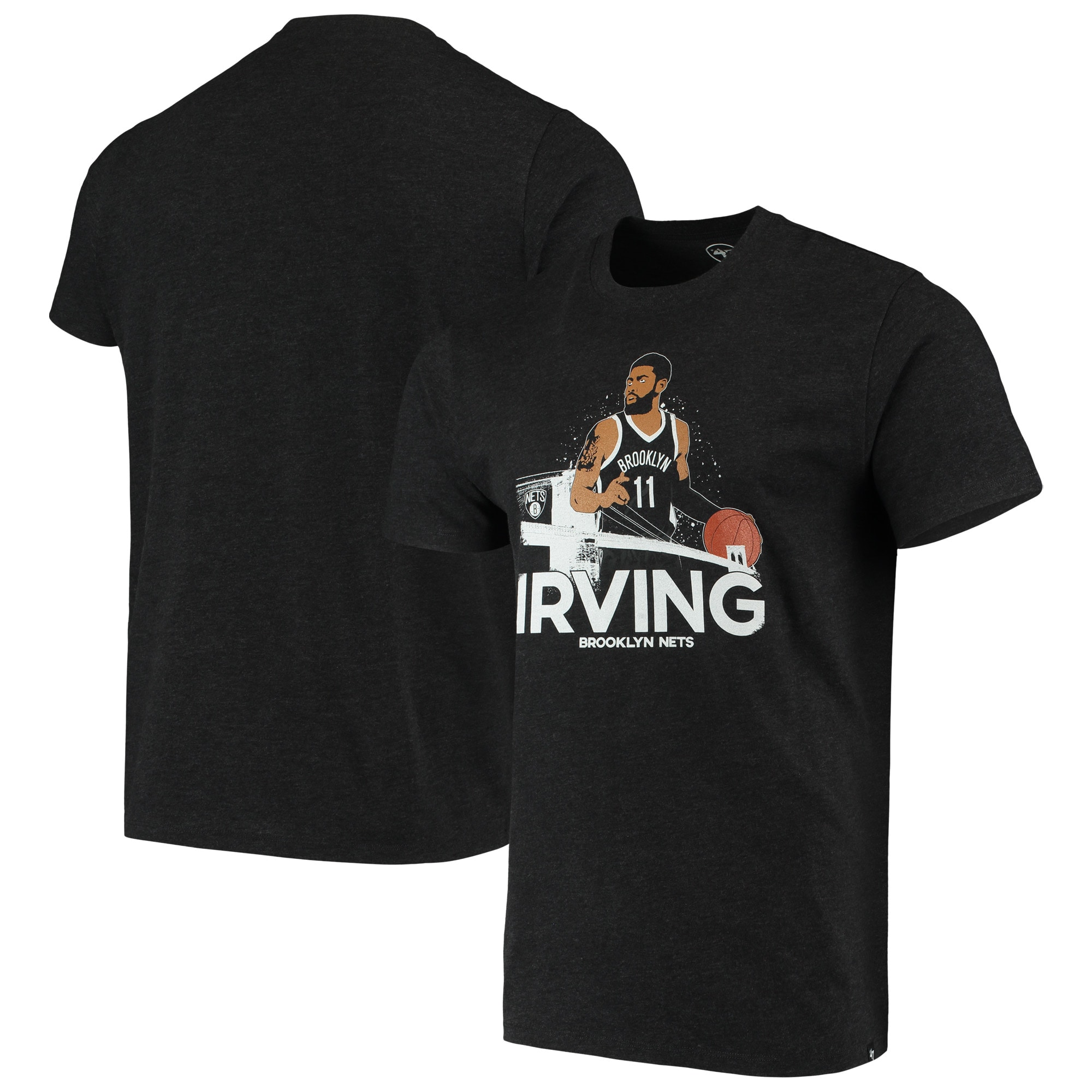 Kyrie Irving Brooklyn Nets '47 Player Graphic T-Shirt - Black