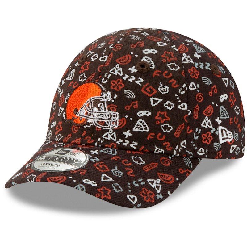 Cleveland Browns New Era Infant Pattern 9FORTY Stretch Flex Hat - Brown