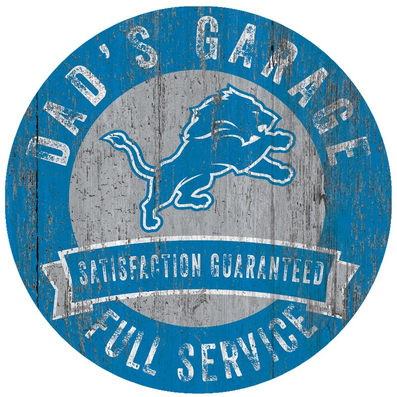 "Detroit Lions 12"" x 12"" Dad's Garage Sign"