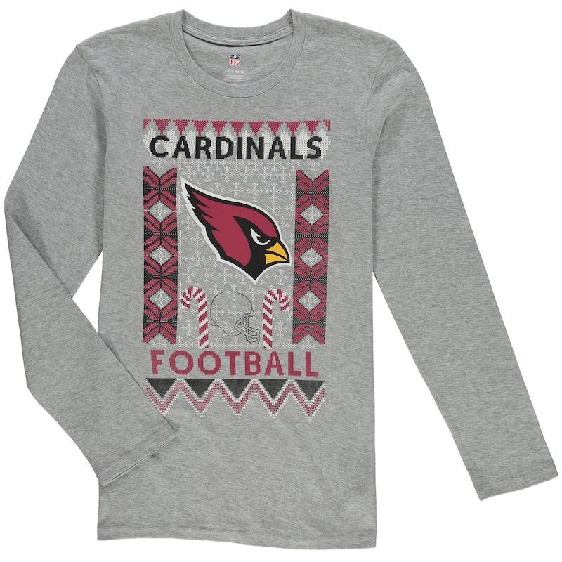Arizona Cardinals Youth Blizzard Long Sleeve T-Shirt - Heathered Gray