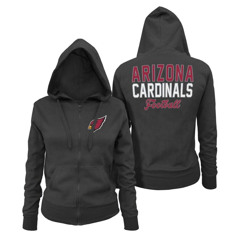 Arizona Cardinals 5th & Ocean by New Era Women's Halfback Full-Zip Hoodie - Black