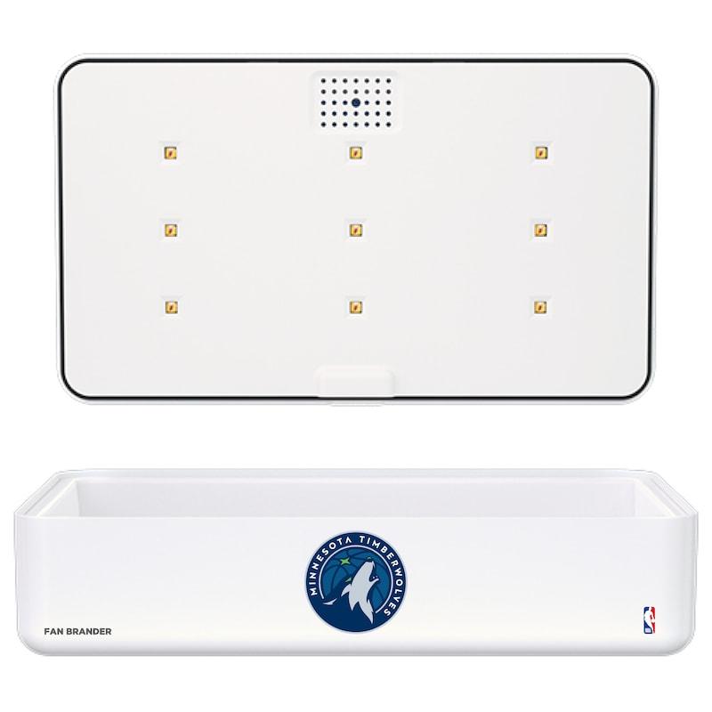 Minnesota Timberwolves Portable UV Phone Sterilizer & Wireless Charger - White