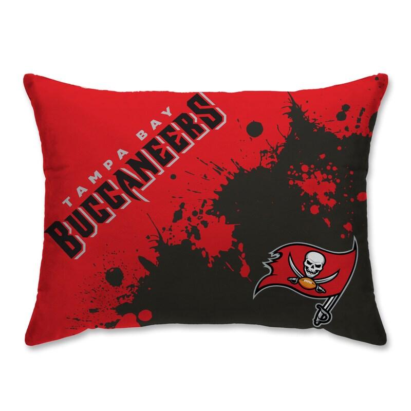 Tampa Bay Buccaneers Splatter Plush Bed Pillow - Red