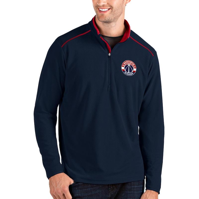 Washington Wizards Antigua Glacier Quarter-Zip Pullover Jacket - Navy/Red