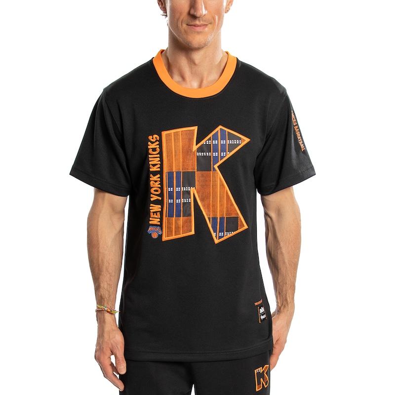 New York Knicks Two Hype Original 90's Team Kente Letter Performance T-Shirt - Black
