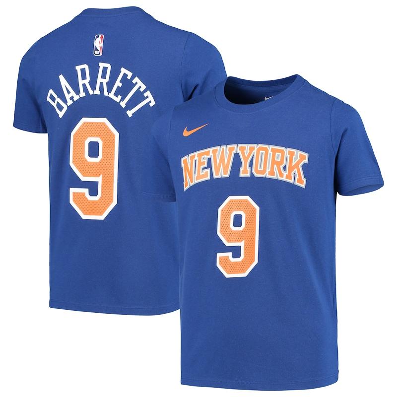 R.J. Barrett New York Knicks Nike Youth Name & Number Performance T-Shirt - Blue