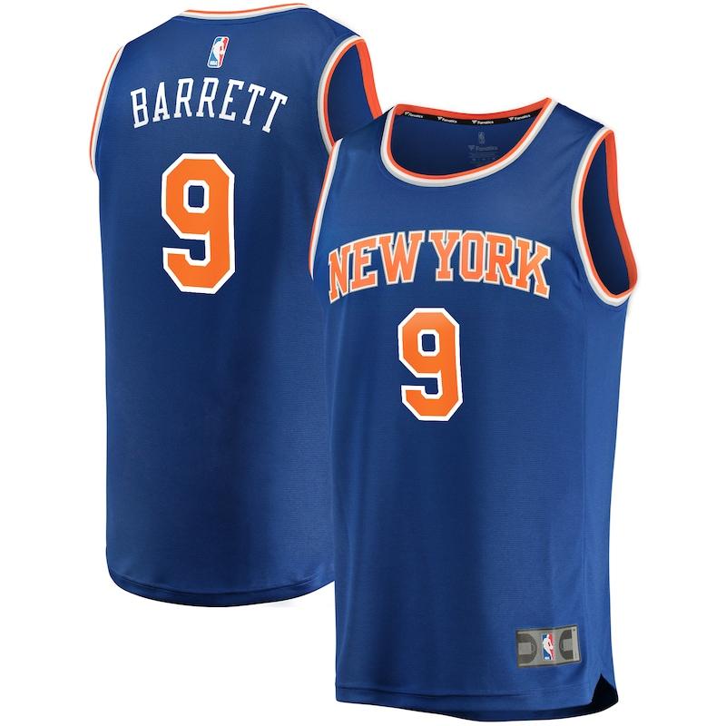 RJ Barrett New York Knicks Fanatics Branded Fast Break Replica Jersey Royal - Icon Edition