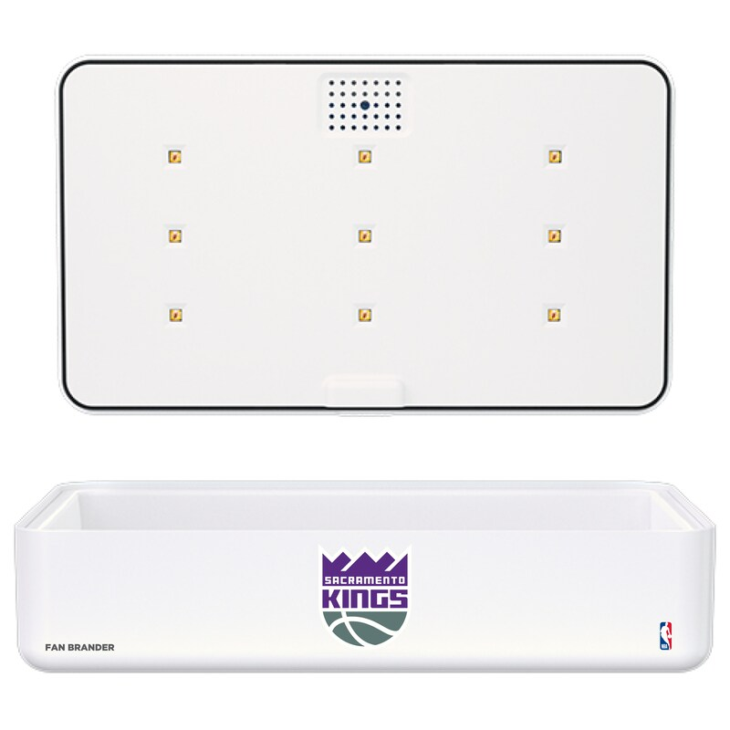 Sacramento Kings Portable UV Phone Sterilizer & Wireless Charger - White