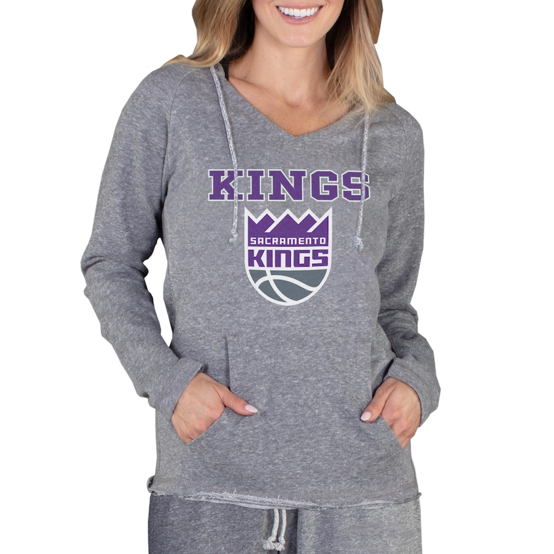 Sacramento Kings Concepts Sport Women's Mainstream Terry Hooded Top - Gray