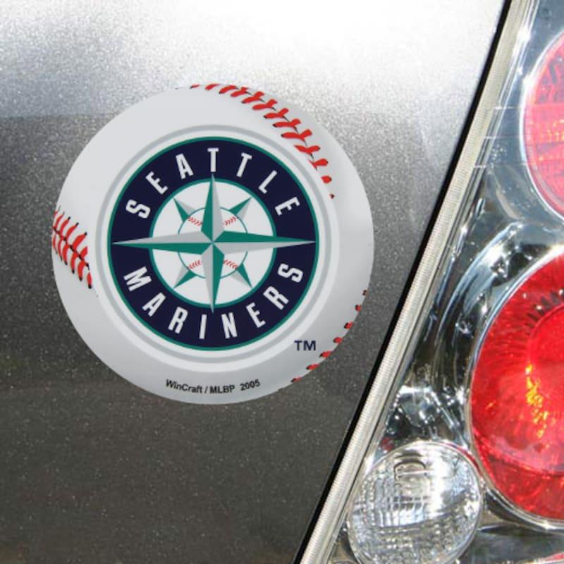 "Seattle Mariners WinCraft 5"" Die-Cut Car Magnet"