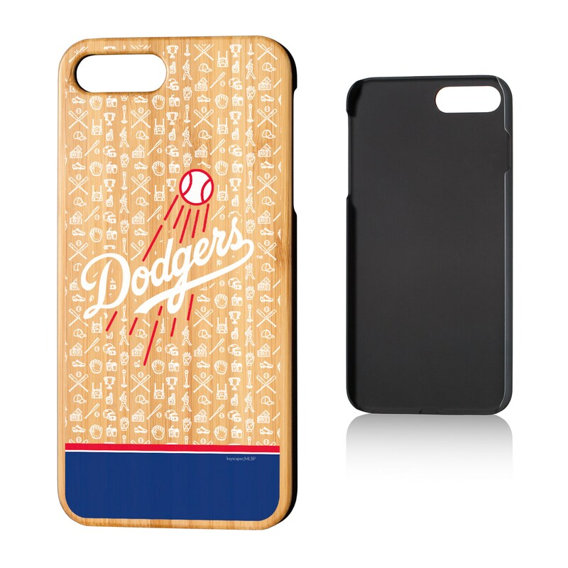 Los Angeles Dodgers iPhone 7 Plus/8 Plus Stripe Bamboo Case