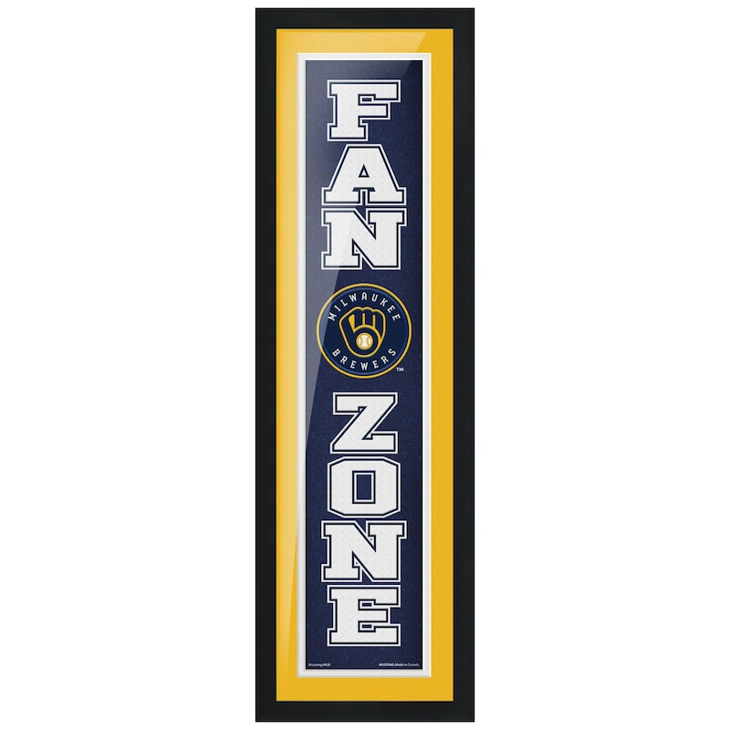 Milwaukee Brewers 6'' x 22'' Fan Zone Framed Artwork