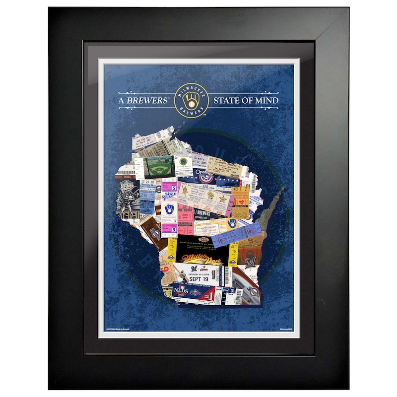 Milwaukee Brewers 12'' x 16'' State of Mind Wall Art