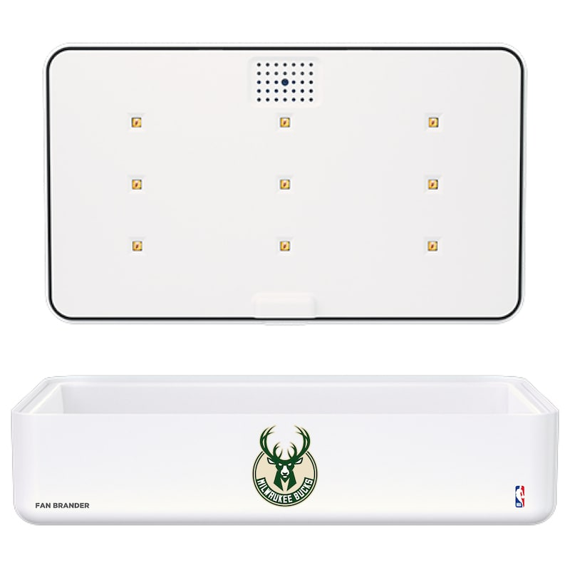 Milwaukee Bucks Portable UV Phone Sterilizer & Wireless Charger - White