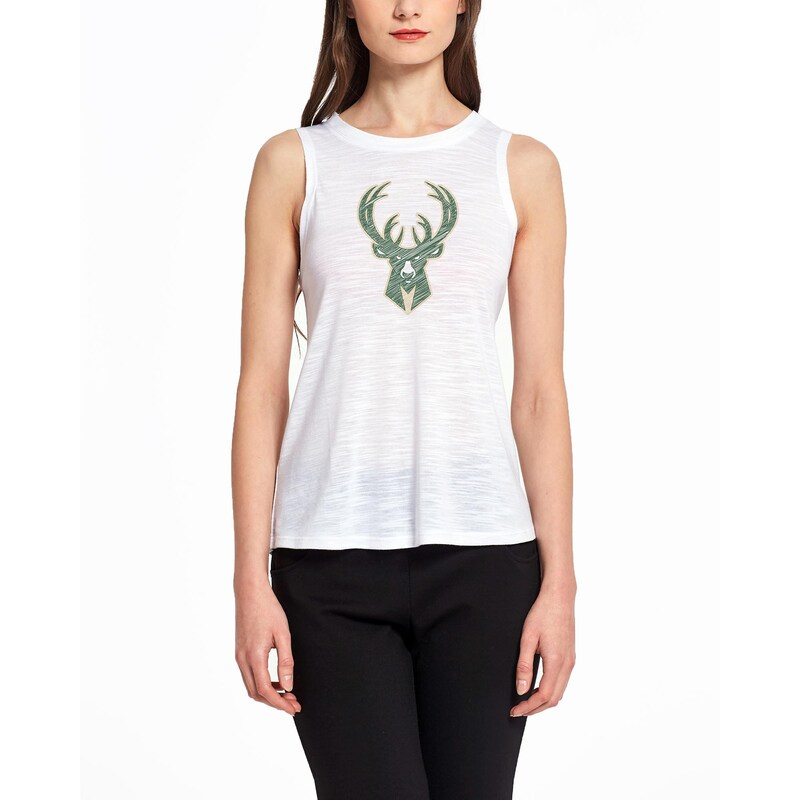 Milwaukee Bucks Concepts Sport Women's Infuse Knit Tank Top - White