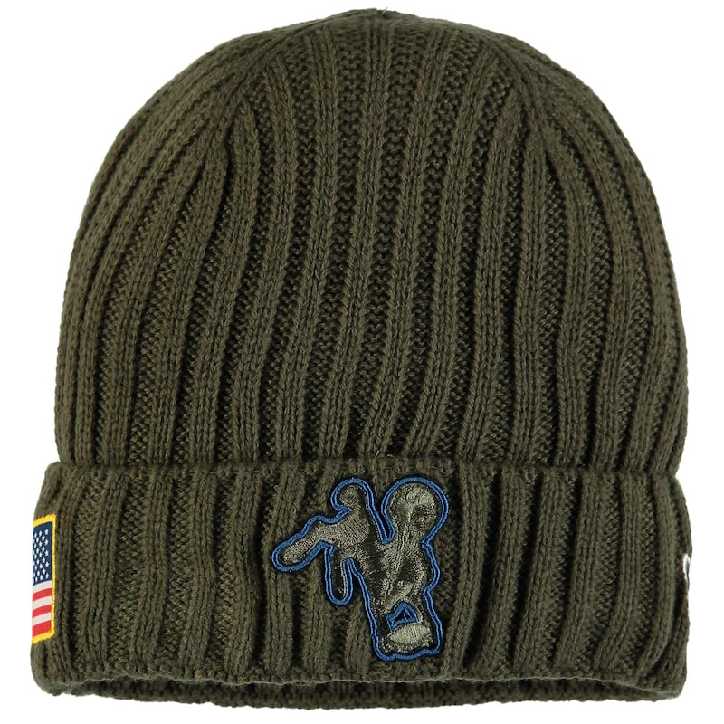 Indianapolis Colts New Era 2017 Salute To Service Cuffed Knit Hat - Olive