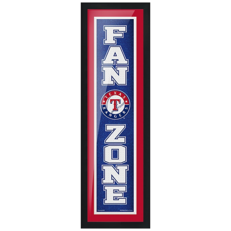 Texas Rangers 6'' x 22'' Fan Zone Framed Artwork