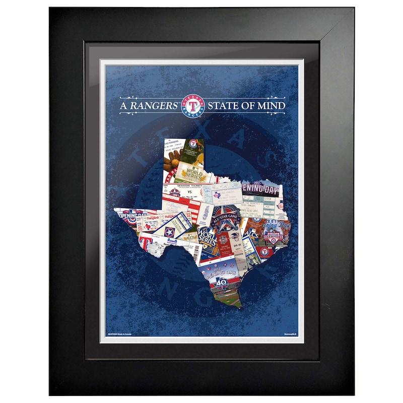 Texas Rangers 12'' x 16'' State of Mind Wall Art