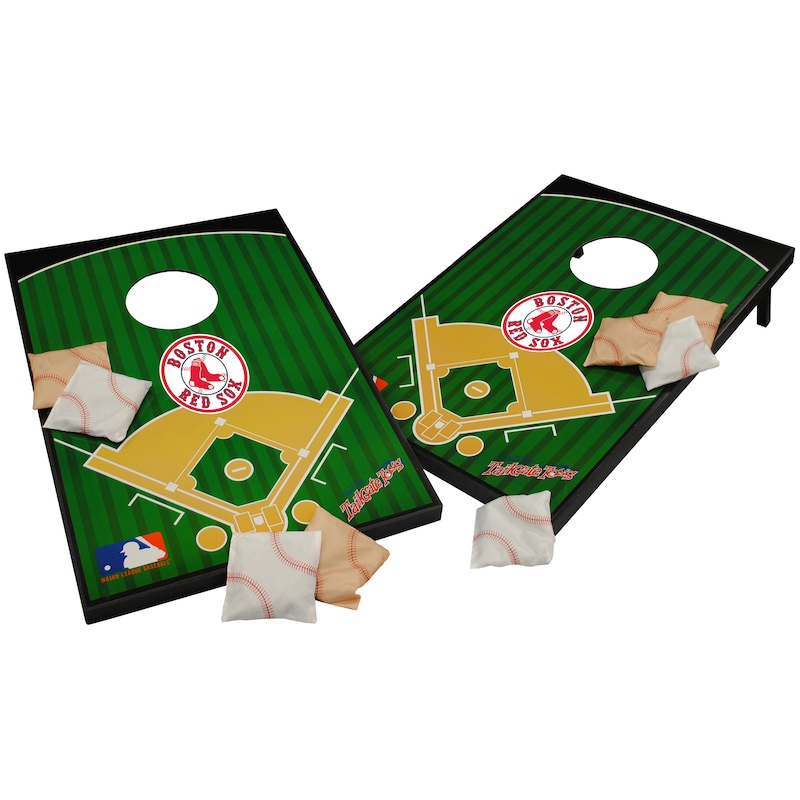 Boston Red Sox 2' x 3' Cornhole Board Tailgate Toss Set