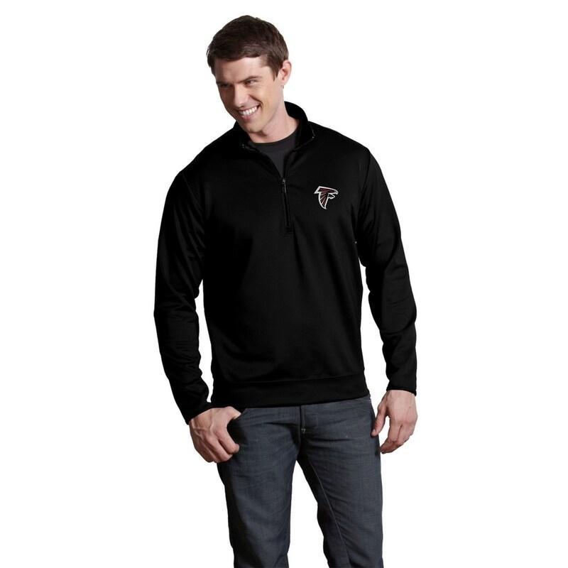 Atlanta Falcons Antigua Leader Quarter-Zip Pullover Jacket - Black