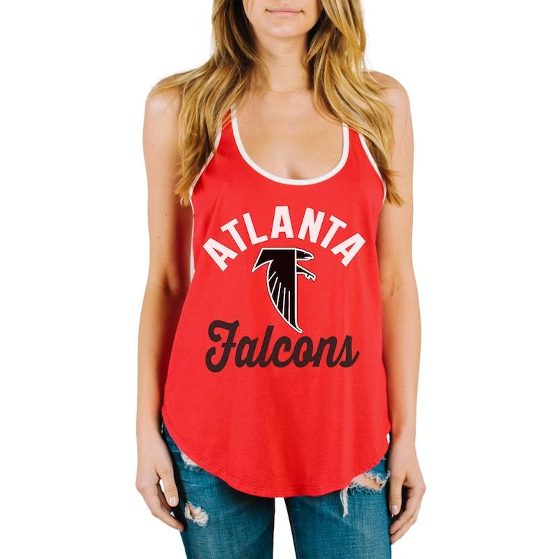 Atlanta Falcons Junk Food Women's Goal Line 1-Hit Ringer Tank Top - Red