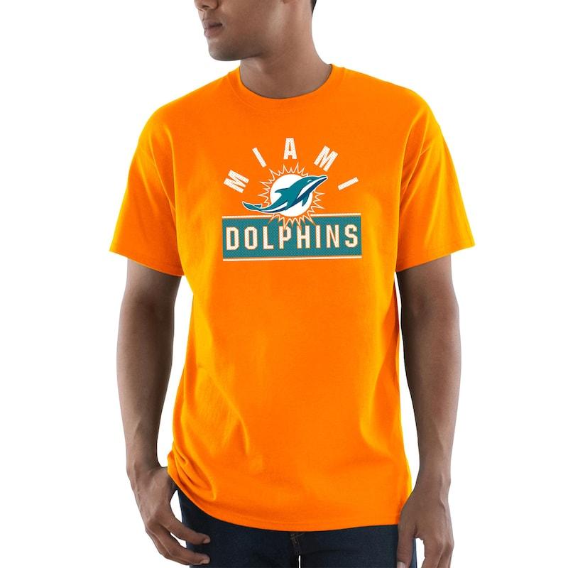 Miami Dolphins Majestic Maximized T-Shirt - Orange