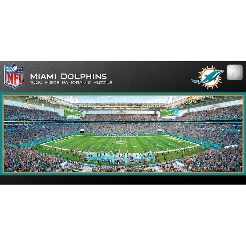 Miami Dolphins 1000-Piece NFL Stadium Panoramic Puzzle