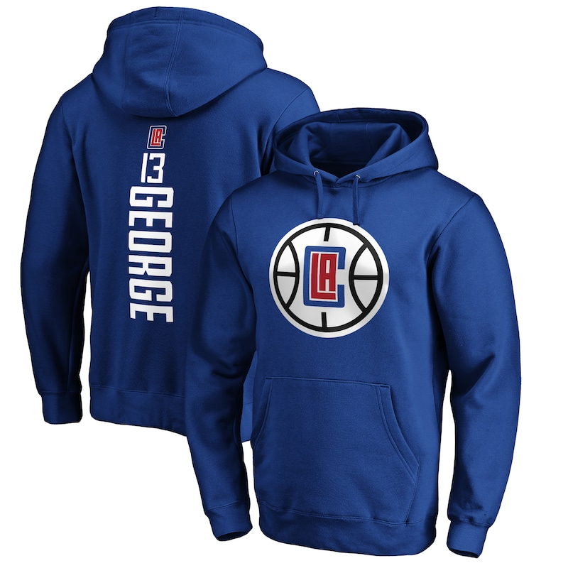 Paul George LA Clippers Fanatics Branded Playmaker Name & Number Pullover Hoodie - Royal