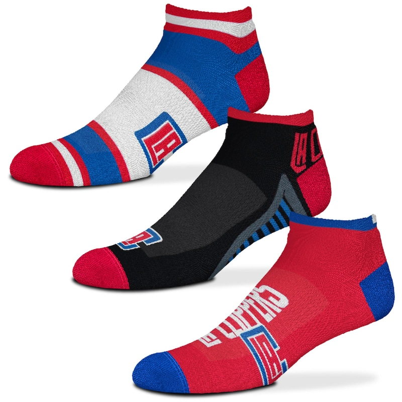 LA Clippers For Bare Feet Three-Pack Show Me The Money Ankle Socks