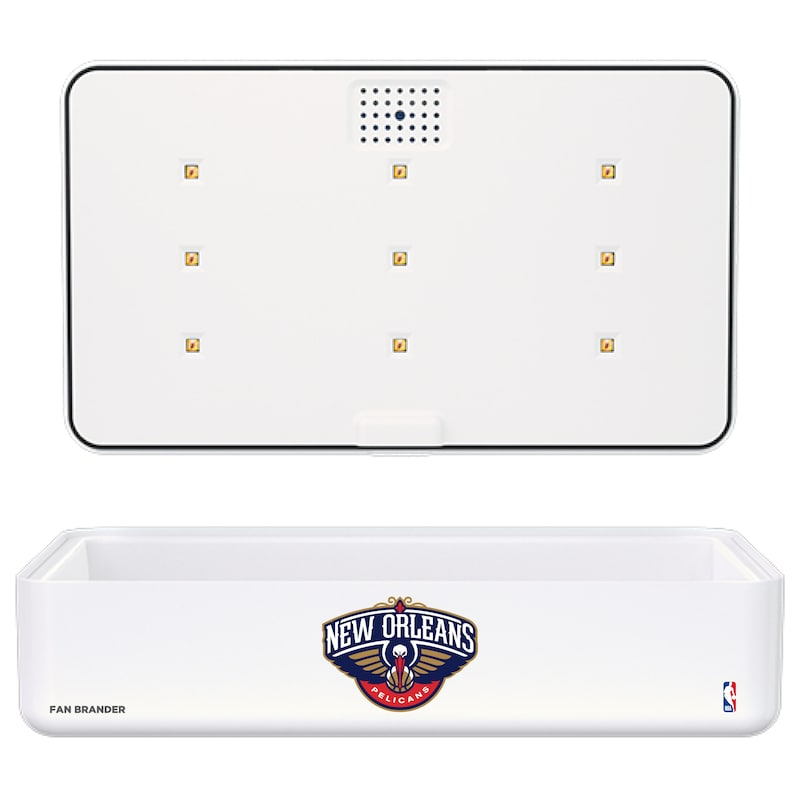 New Orleans Pelicans Portable UV Phone Sterilizer & Wireless Charger - White