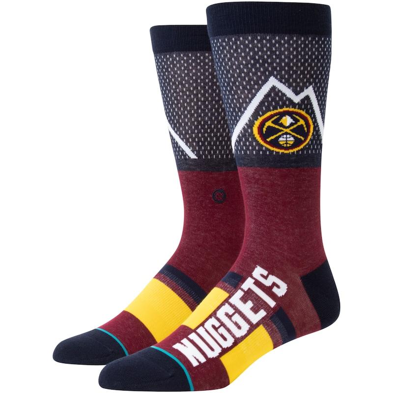 Denver Nuggets Stance Shortcut Crew Socks - Navy