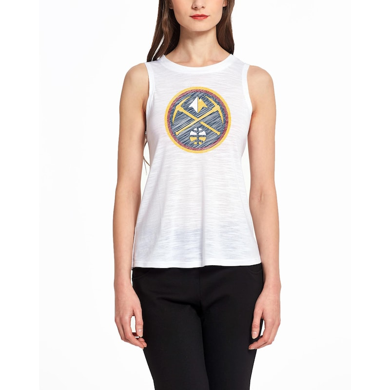 Denver Nuggets Concepts Sport Women's Infuse Knit Tank Top - White