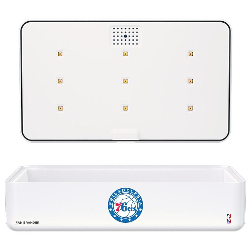 Philadelphia 76ers Portable UV Phone Sterilizer & Wireless Charger - White