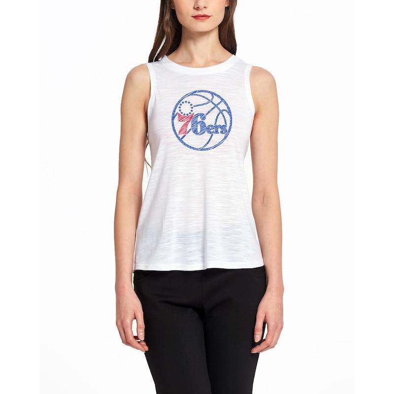 Philadelphia 76ers Concepts Sport Women's Infuse Knit Tank Top - White