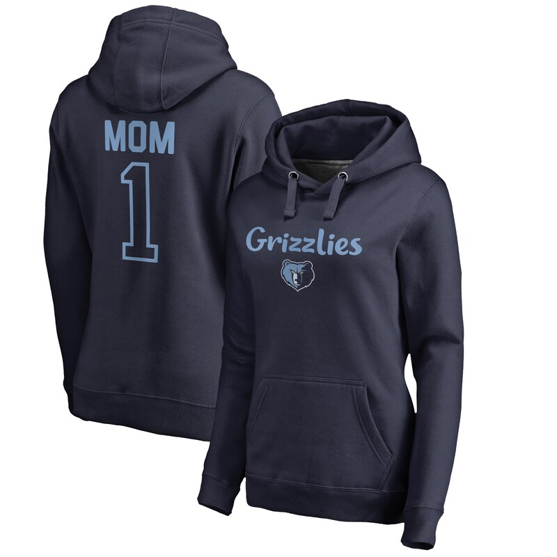 Memphis Grizzlies Fanatics Branded #1 Mom Logo Pullover Hoodie - Navy