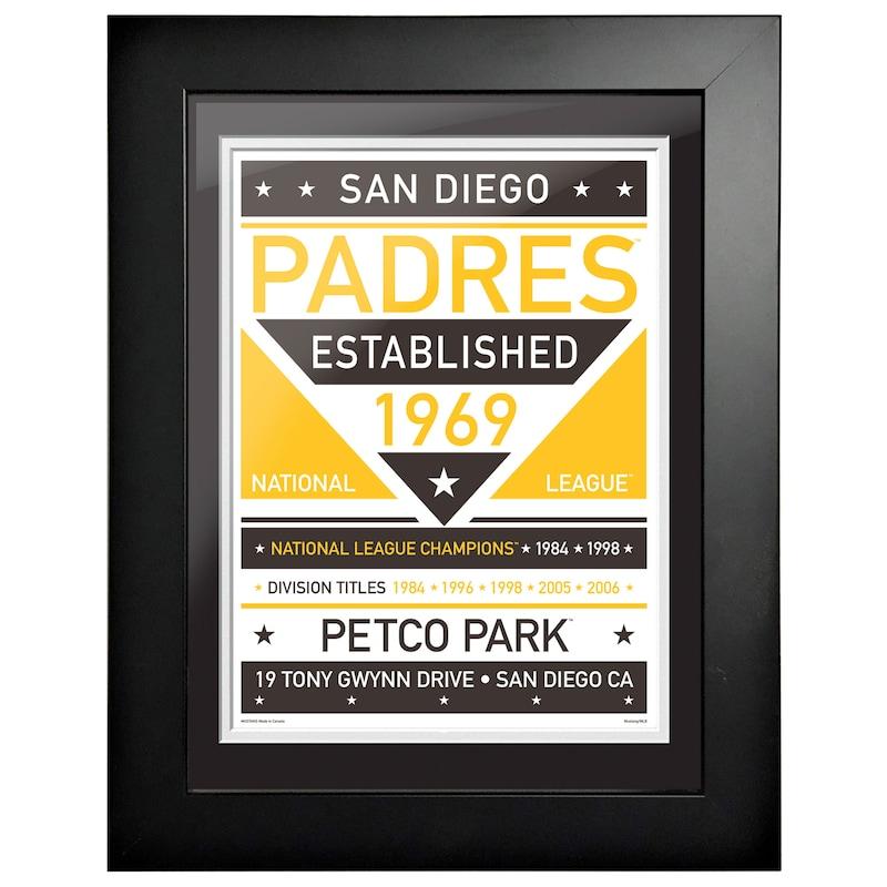 San Diego Padres 12'' x 16'' Dual Tone Framed Wall Art