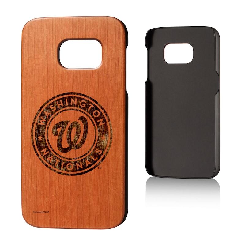 Washington Nationals Galaxy S7 Branded Logo Cherry Wood Case