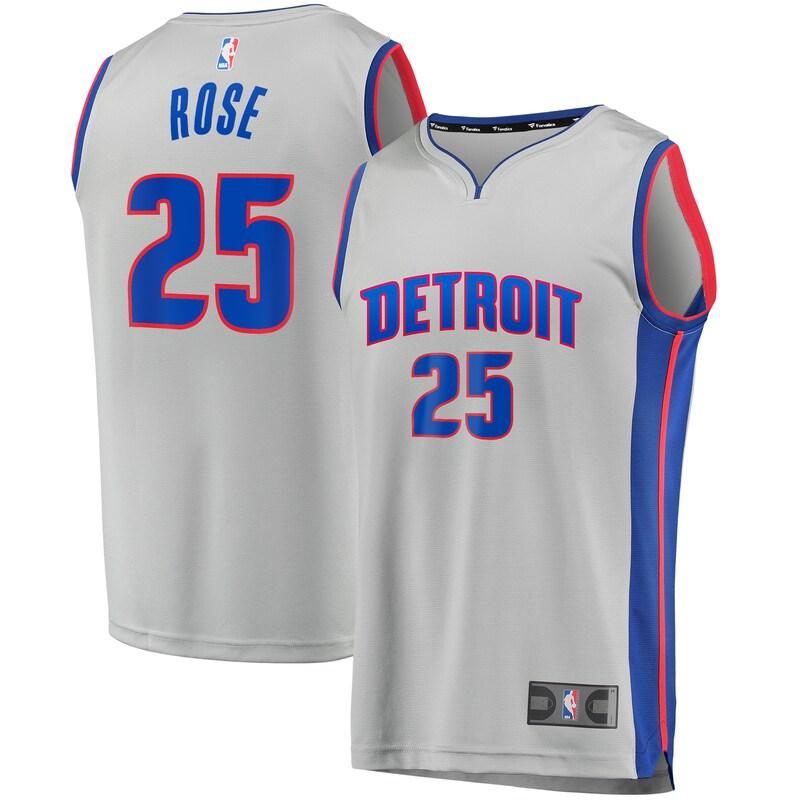 Derrick Rose Detroit Pistons Fanatics Branded Youth Fast Break Replica Player Jersey - Statement Edition - Gray