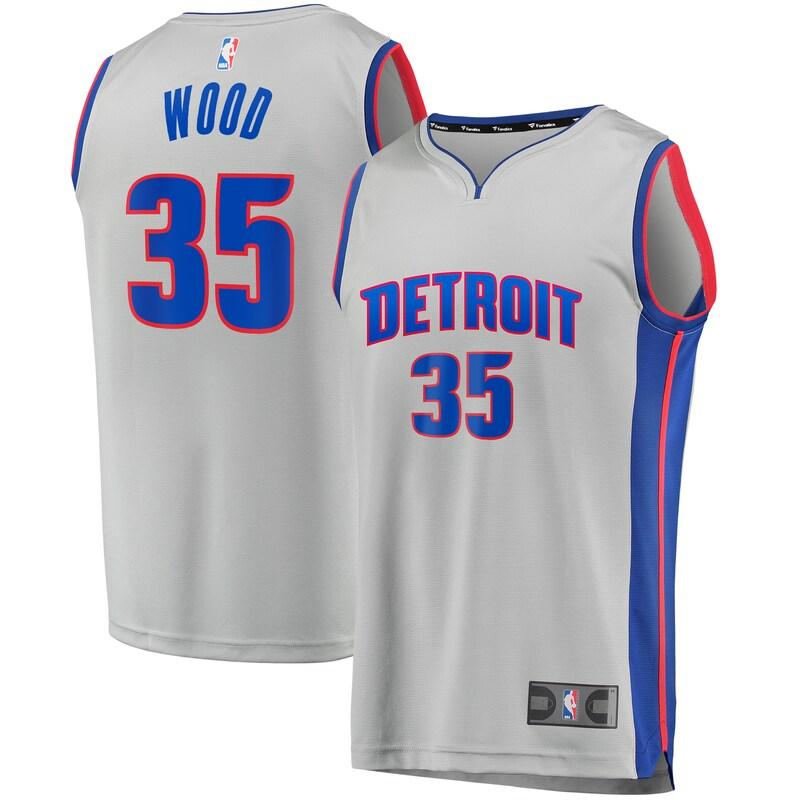 Christian Wood Detroit Pistons Fanatics Branded Youth Fast Break Replica Player Jersey - Statement Edition - Gray